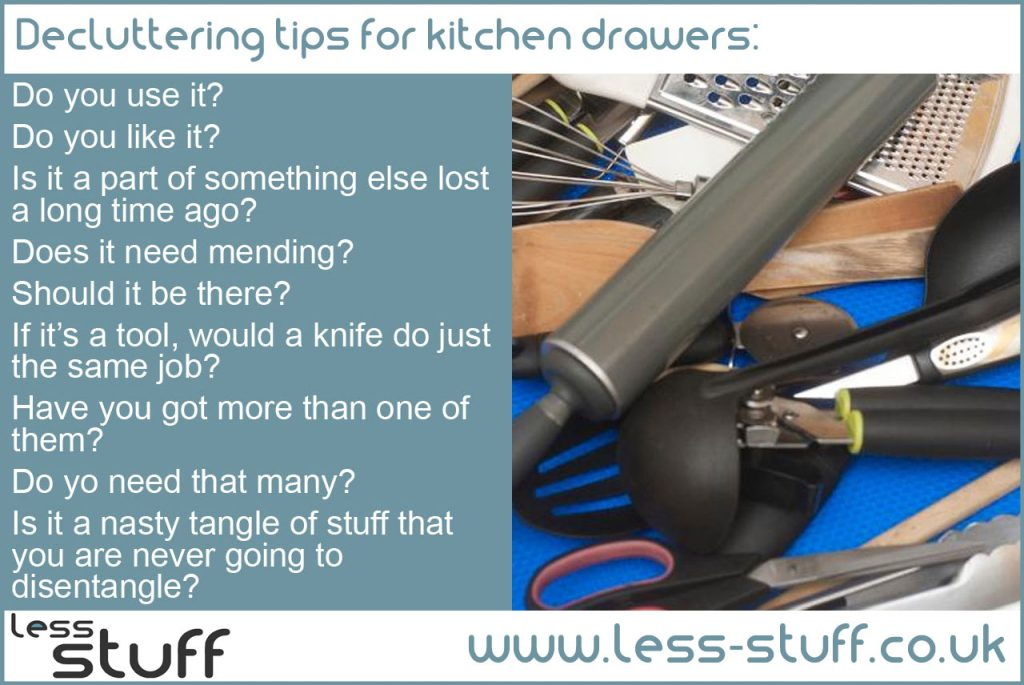 Declutter kitchen drawers easily