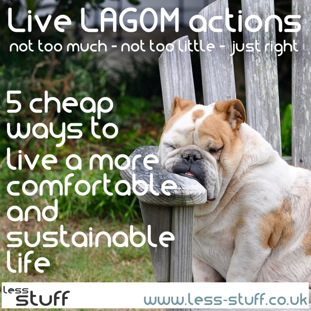lagom actions to be more sustainable