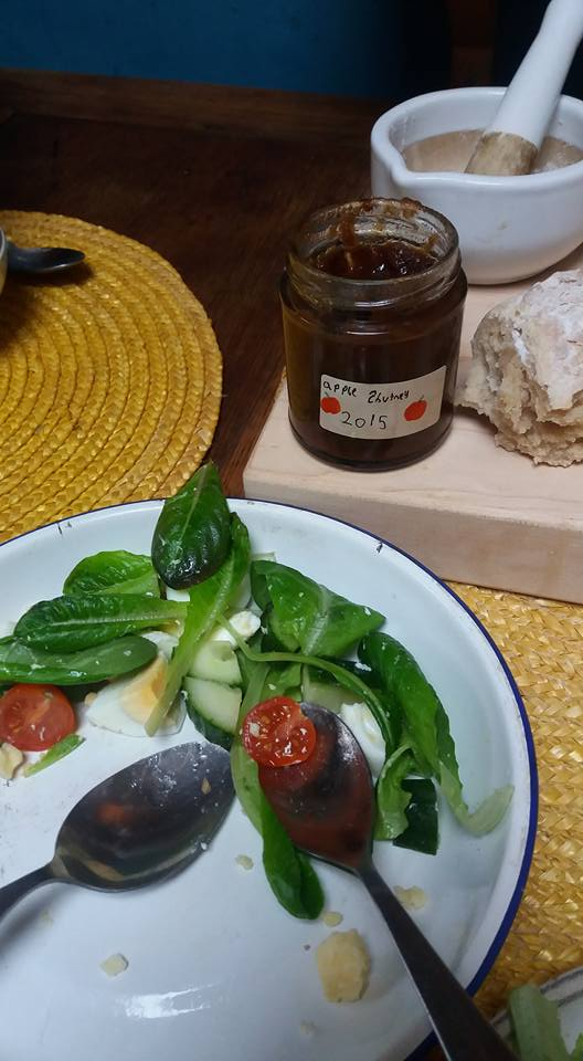 Some of last years chutney went well with the salad