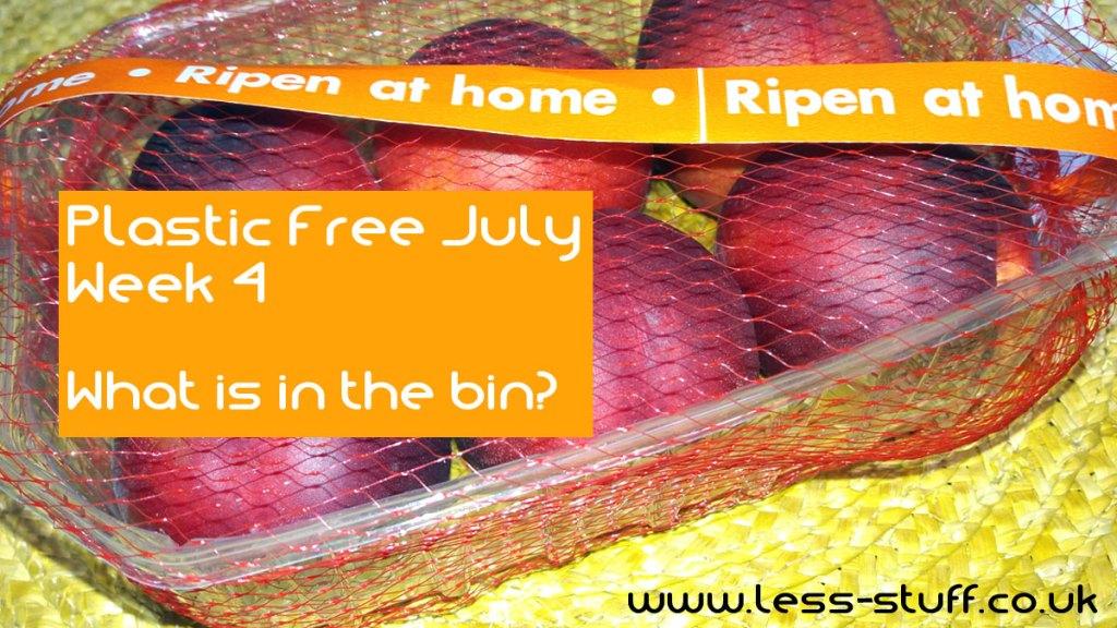 Plastic Free July Week 4 What is in the bin?