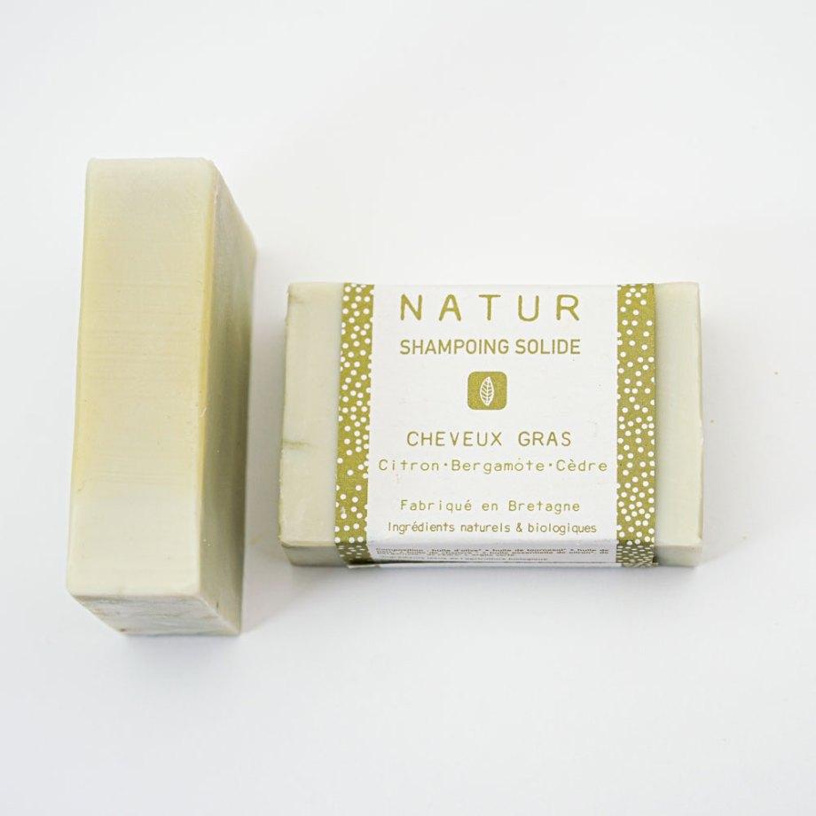 Shampoing solide spécial cheveux gras - NATUR