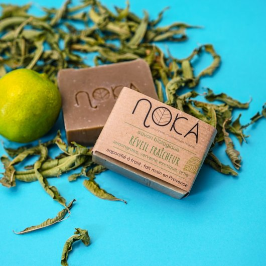 Savon solide Ortie, Lemongrass et Verveine - NOKA COSMETIQUES