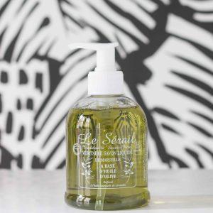 dispensaire à savon de marseille liquide à l'huile d'olive