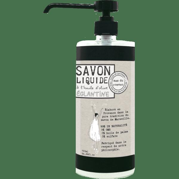 Savon liquide à l'huile d'olive – EGLANTINE 750ML