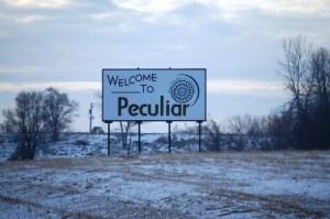 Welcome to Peculiar, MO