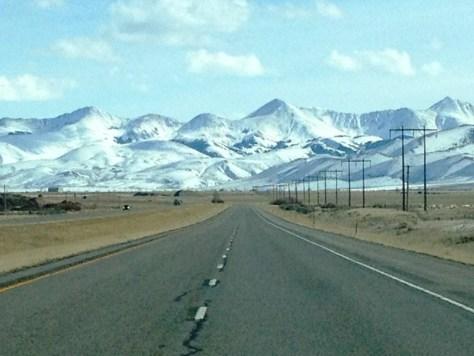 South on I-15 into Idaho