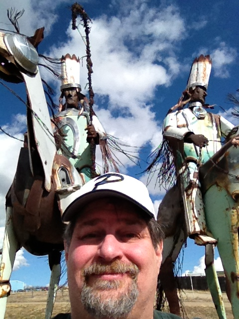 Blackfeet Warriors by Jay Polite Laber, in East Glacier, Montana