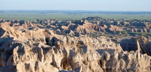 Badlands at Sunset