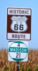 Historic Route 66 in Illinois