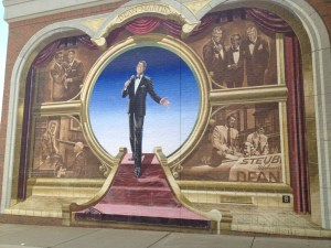Dean Martin mural in Steubenville, OH painted by Robert Dever in 1998