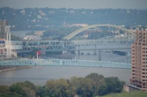 Ohio River as it flows through Cincinnati, OH