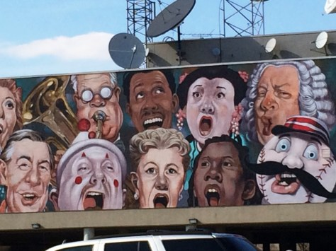 """Another detail of """"The Singing Mural"""""""