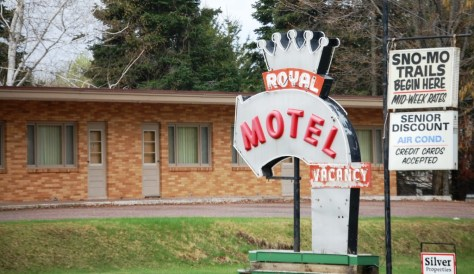 Another vintage roadside motel sign on the outskirts of Ironwood on US Route 2