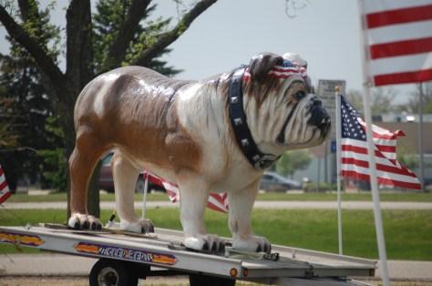 The Big Bulldog mascot of the Road Dawg Restaurant