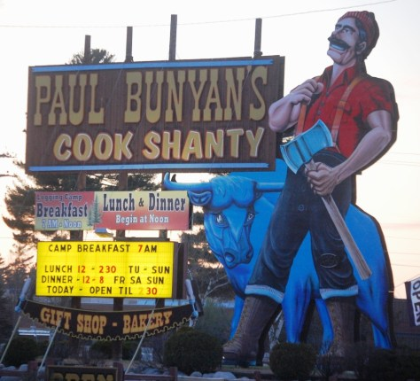 Paul Bunyan's Cook Shanty in Minocqua, WI