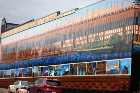 The Ashland Oredock Mural in Ashland, WI