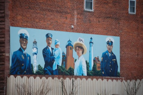 Lighthouse Mural in Ashland, WI