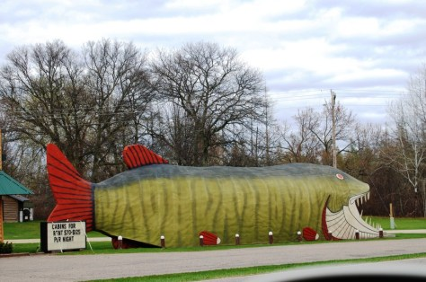 Long view of the Big Fish in Bena, MN