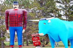Paul Bunyan and Babe in Bemidji, MN