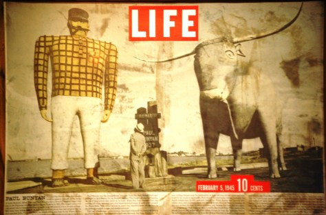 Life Magazine article on Bemidji and Paul Bunyan statue in February 1945