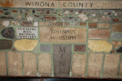 Fireplace of States in Bemidji, MN
