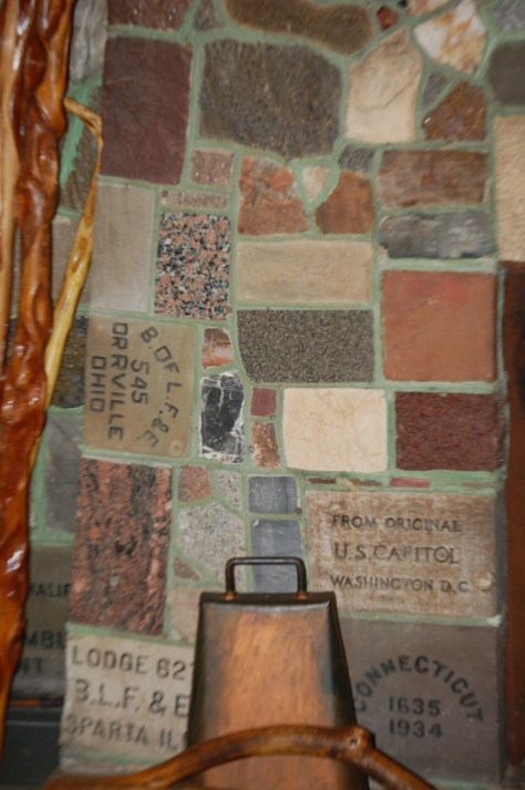 Detail of Fireplace of States in Bemidji, MN