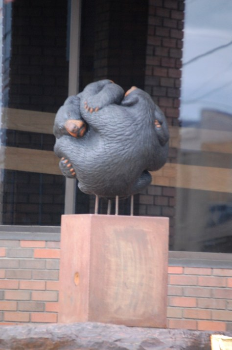 """Bear's Ball"" by Paul Albright - part of the 2014 Sculpture Walk in Bemidji"