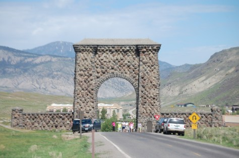 The Roosevelt Arch at the North Entrance of Yellowstone National Park