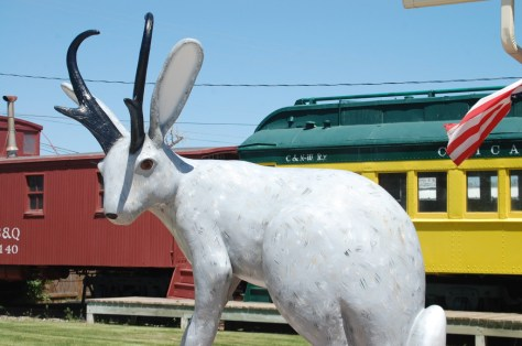 Jackalope statue in Douglas, Wyoming