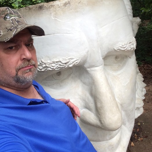 Sam Houston head in Huntsville, TX