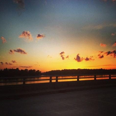 Sunset at Lake Minocqua, WI