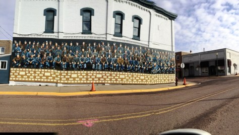 The men in Miner's Memorial Mural represent the thousands of men who worked in the Gogebic Range Mines of Michigan and Wisconsin.