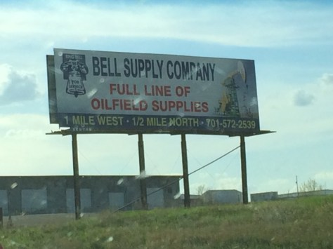 Billboards advertise Oil Supplies