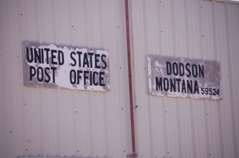Old Post Office Sign in Dodson, MT