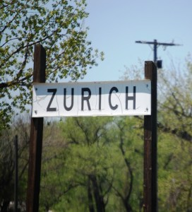 Zurich, Montana - a small dot on the Hi-Line