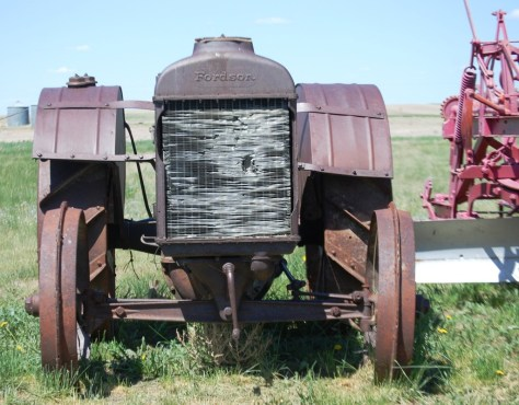 An old tractor at the Depot Museum in Rudyard, MT