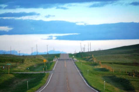 US Highway 89 west of Vaughn, Montana