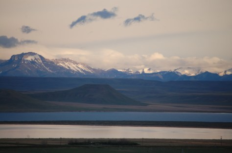 Early morning on Freezeout Lake as seen from US 89 north of Fairfield, Montana
