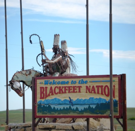 South entrance to the Blackfeet Nation