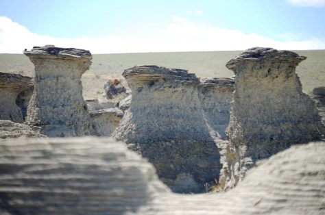 Formations at Rock City north of Valier, MT
