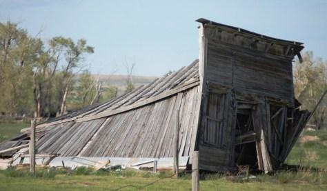 A dilapidated barn near Pendroy, Montana