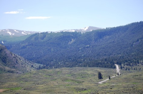 Grand Loop Road as seen from Mammoth Hot Springs