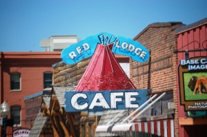The Red Lodge Cafe sports an old classic neon sign.