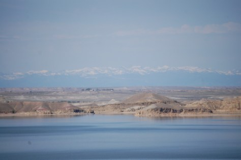 Another view of the Wind River Mountain Range behind Boysen Reservoir