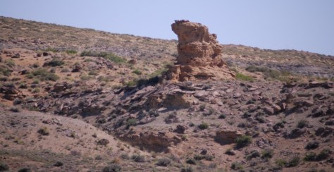 Another rock formation on US 20 east of Shoshoni, WY