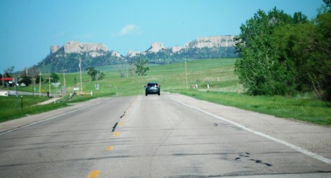 US 20 approaching Crawford, Nebraska and the Butte Country