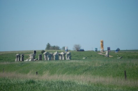 Wide view of Carhenge