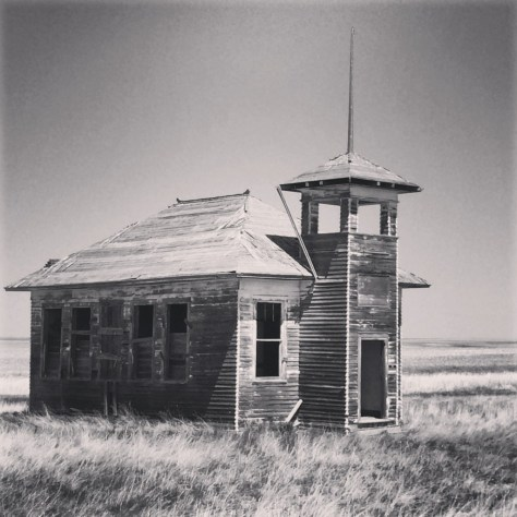 Old Prairie School House on Smith-Frisno Road west of Havre. I wanted this one in black and white...