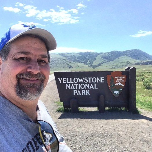At the north entrance to Yellowstone National Park, still on US 89 in Montana