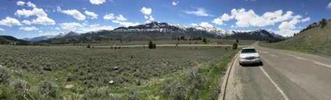 Panorama of the Beartooths from east of Cooke City